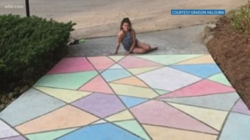 Sending some love with chalk art