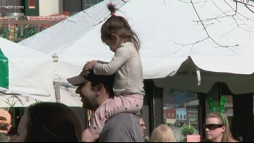 Families take part in St. Patrick's Day festivities