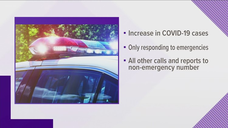 Tazewell Police no longer responding to non-emergency calls amid COVID-19 case increase