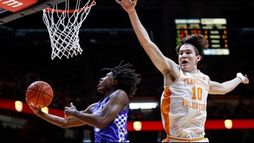 Second half surge not enough in Tennessee loss to No. 15 Kentucky