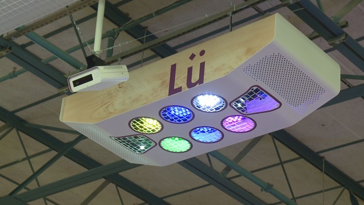 Lu is a 3D camera system that transforms giant wall projections into touch screens that detect objects.