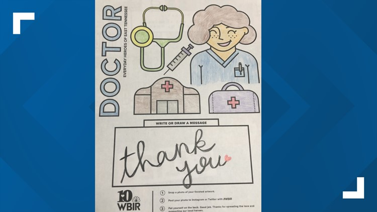 Brighten a day: Use these coloring pages to show support for East TN's everyday heroes