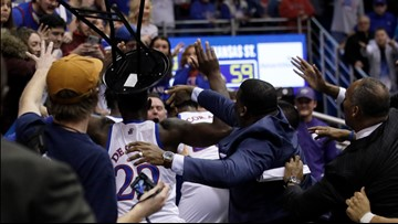 Two Kansas players suspended for role in brawl