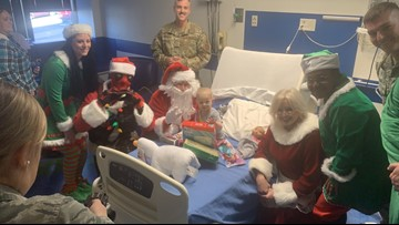 Ho, ho, ho! Santa and friends visit East Tennessee Children's Hospital
