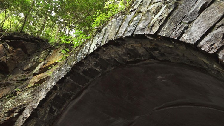 Archway Bote Mountain Tunnel GSMNP Great Smoky Mountains