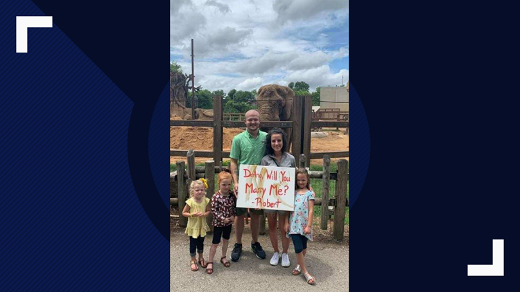 Morristown couple gets engaged with help from elephant