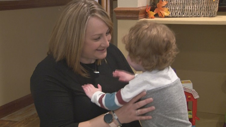 Rachael Cope enjoys playing with her 4-year-old son Jaxson