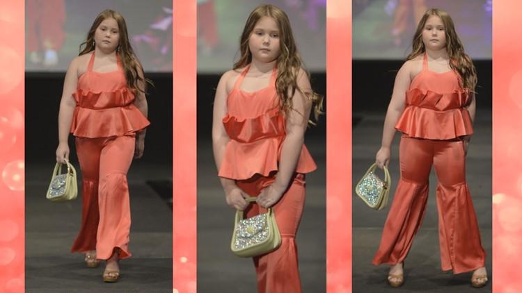 Blount County Elementary School student models in New York Fashion Week