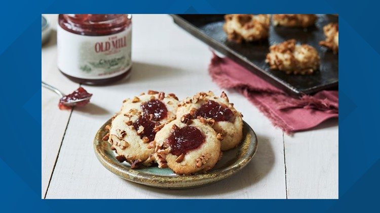 The Old Mill gets 2 thumbs up for these thumbprint cookies
