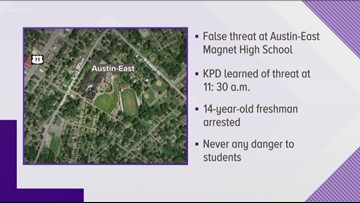KPD: Student arrested, made false gun report