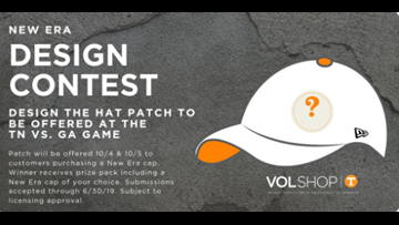 The VolShop needs you to design a hat patch