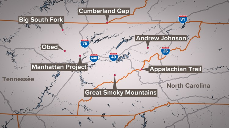 National Park Service sites properties in East Tennessee