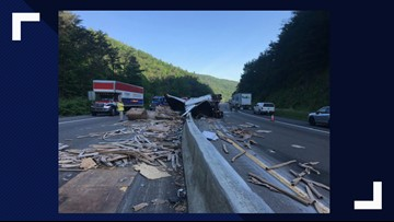 Overturned tractor-trailer causes major delays on I-40
