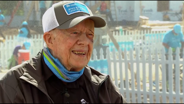 Jimmy Carter discusses housing, faith & music