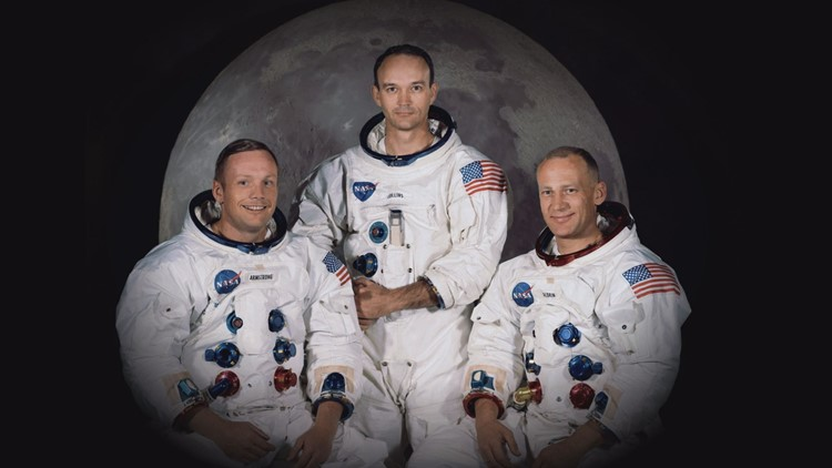 Neil Armstrong, Michael Colins and Buzz Aldrin