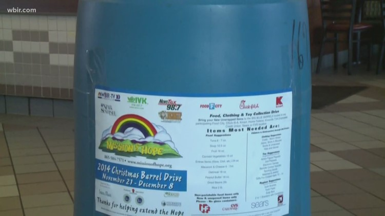 It's coming back! | Mission of Hope Blue Barrels to return for 2021 holiday season
