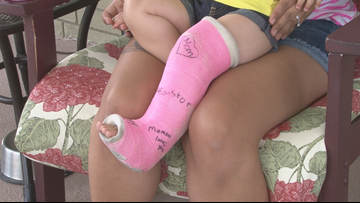 'They're risky' || Mom warns of trampoline dangers after toddler suffers fracture