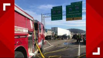 Crews clear I-75 South at Merchants Drive after multi-vehicle crash