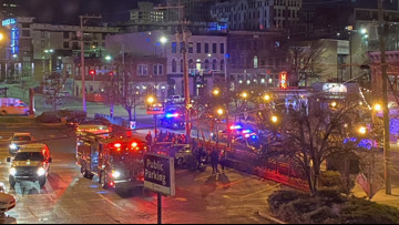 KPD: Four people injured in downtown hit-and-run, suspect wanted