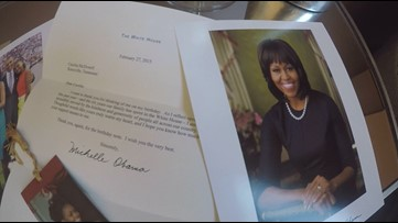 Knoxville woman shares letters, photos exchanged between her and former First Lady Michelle Obama