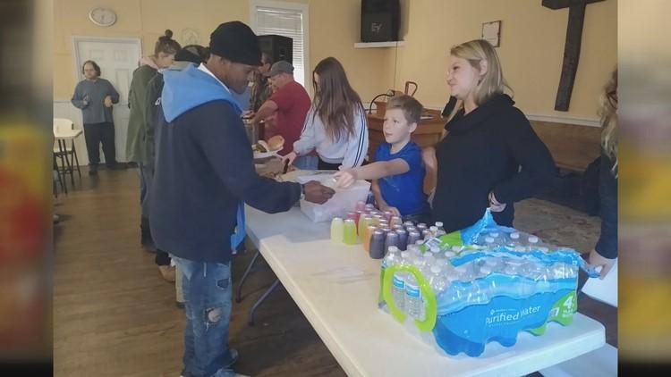 Alex Koloske volunteers at Water Angels
