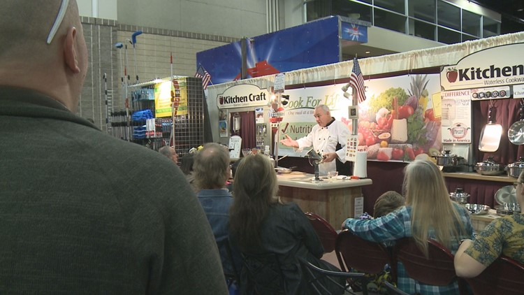 A cooking demonstration is one of the educational opportunities at the Dogwood Arts House and Garden Show