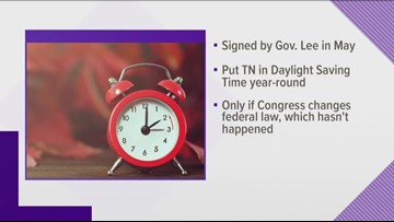 10Listens: Tennessee will 'fall back' in November, despite state's new Daylight Saving Time law