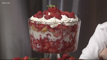 In the kitchen: Strawberry trifle
