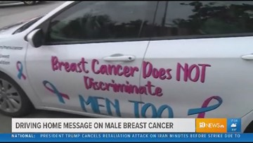 Driving home message on male breast cancer