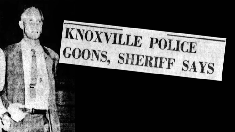 Hamilton County Sheriff Turner Knoxville Goons 1958 Chattanooga Vols