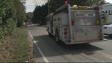 Crews responding to brush fire near Airbase Road in Blount Co.