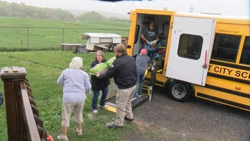 Kingsport school bus drivers donate over 1,000 pounds of pet food to animal shelter
