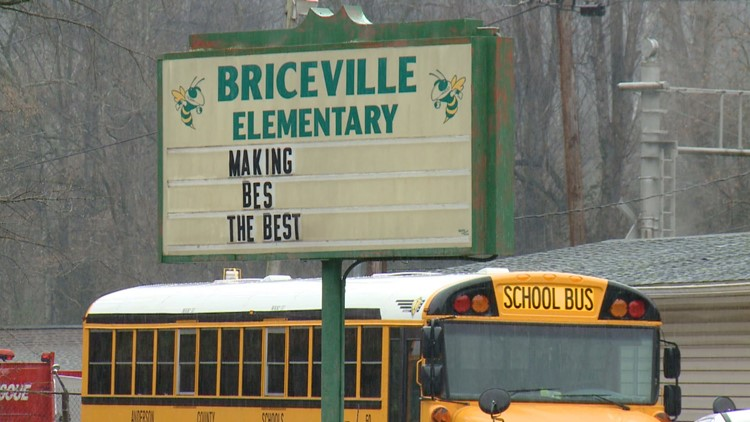 Briceville Elementary School Sign in Anderson County
