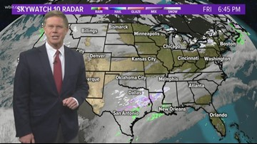 Temperatures continue to drop, and we can also look ahead to some rain