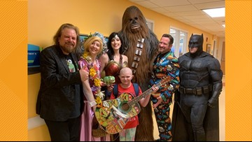 Superhero worlds collide at East Tennessee Children's Hospital