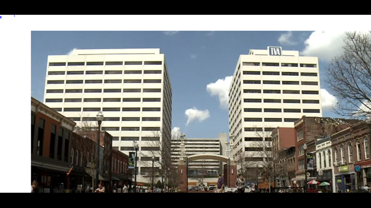 TVA's East Tower, shown right, is north of Market Square.