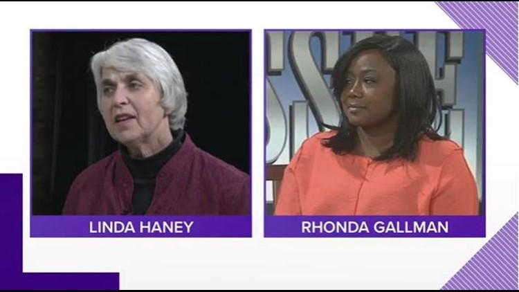 Democratic candidates for Knox County Mayor Linda Haney and Rhonda Gallman.