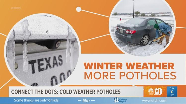 Connect the Dots: Cold weather & potholes