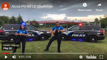 This video of Alcoa PD doing the 'Git Up Challenge' is two