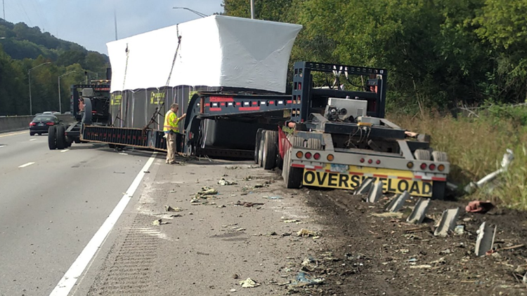 KPD: All lanes of I-640 West back open after crash involving tractor-trailer