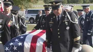 Dozens of East Tennesseans attend funeral for unclaimed Air Force veteran