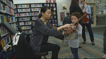 Knoxville Symphony Orchestra musicians put twist on story time at library