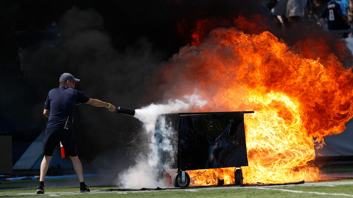 NFL bans on-field pyrotechnics, reviewing Titans incident