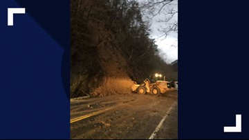 Hwy. 321 near Townsend back open after overnight slide