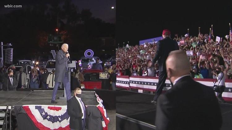 Pres. Trump, Biden make final pitch to voters