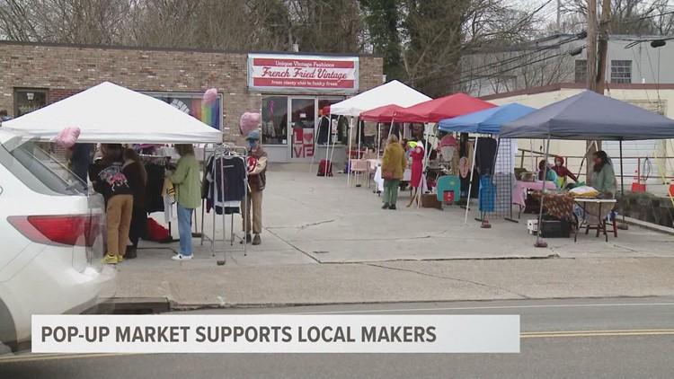 Pop up market supports local makers