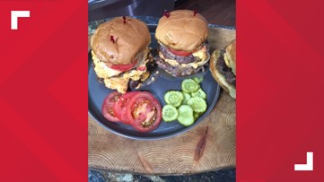 Bacon infused pimento cheese burgers