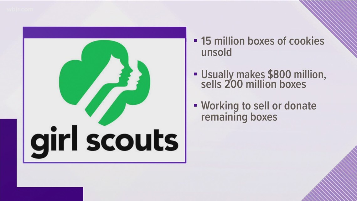 15 million boxes of Girl Scouts cookies are unsold