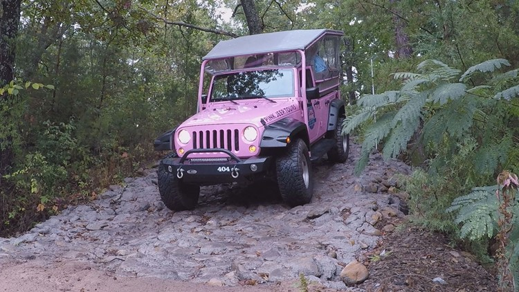 The company built an off-road trail nearby in Pigeon Forge