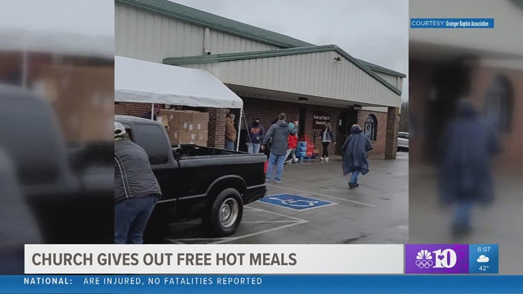 Grainger Co. church gives out free hot meals